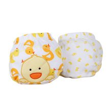 Lovely Yellow Duck Baby Elastic Cloth Diaper Cover (M, 9-11KG)