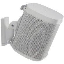 Sanus Adjustable Speaker Wall Mount Designed For SONOS ONE, PLAY:1 & PLAY:3 - Single (White)