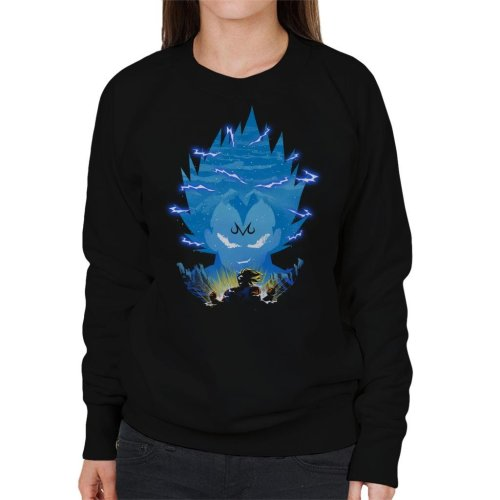 Dragonball Z Vegeta Silhouette Lightning Women's Sweatshirt