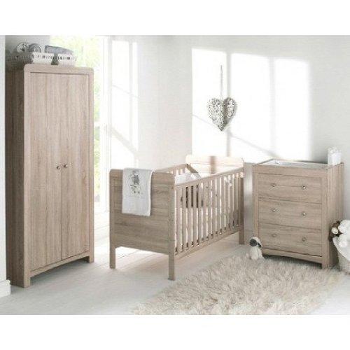 East Coast Fontana 3 Piece Room Set - Cot Bed, Dresser & Wardrobe