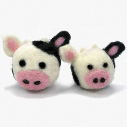 D72-73903 - Dimensions Needle Felting - Round & Wooly: Cows