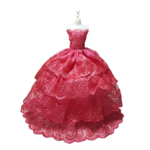 High-end Handmade Wedding Costume Luxurious Party Gown Dresses Princess Clothes for Dolls, X
