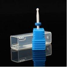 Blue Ceramic Nail Drill Bits Flame Bit For Nails Manicure Pedicure Cutter Machine Tools