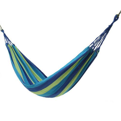 Travel Camping Hammocks Single Person Cotton Canvas Outdoor Hammock  80*185CM