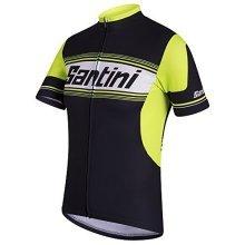 Tau Santini Short Sleeve Shirt, Men's, Tau, Black, XXL - Printed Black Jersey -  santini tau printed black jersey