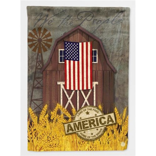 Carolines Treasures VHA3036CHF Patriotic Barn Land of America Flag Canvas House Size