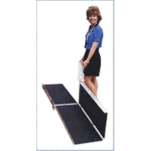 6-ft x 30-in Portable Multifold Wheelchair Ramp 800 lb. Weight Capacity  Maximum 12-in Rise