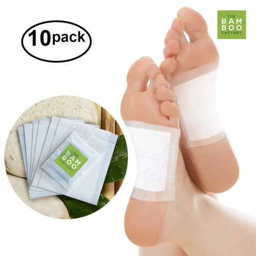 The Bamboo Factory Foot Detox Pads - Eliminates Harmful Toxins, Aides in Weight Loss, Calms And Relieves Stress, Soothes Pain - Pack of 10