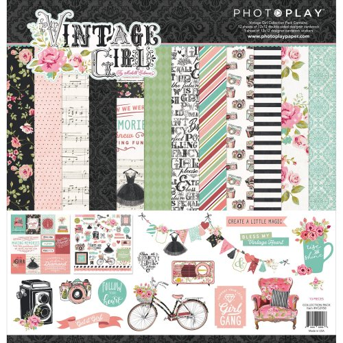 """Photoplay Collection Pack 12""""X12""""-Vintage Girl"""