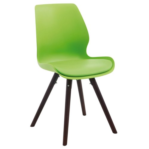 Visitor chair Perth plastic cappuccino round