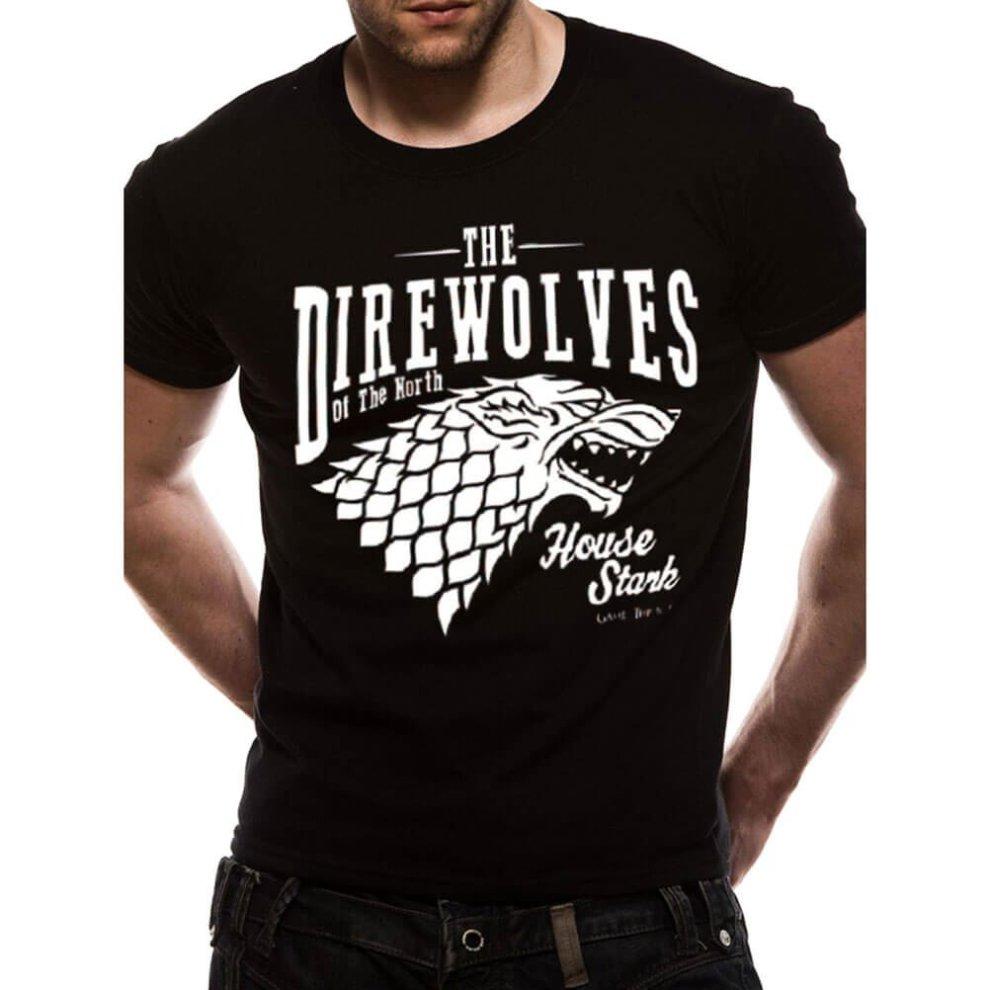 e3a2c218 Men's Game of Thrones Direwolves Black T-Shirt