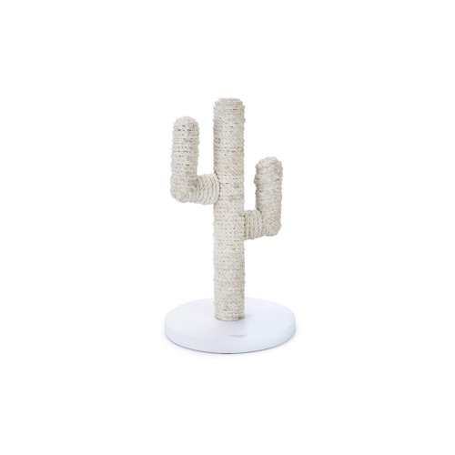 Designed By Lotte Wooden Scratch Post Cactus Taupe 35x35x60cm