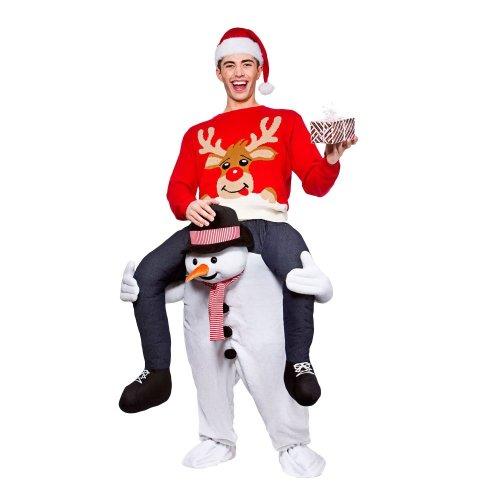Carry Me Piggy Back Snowman Costume   Christmas