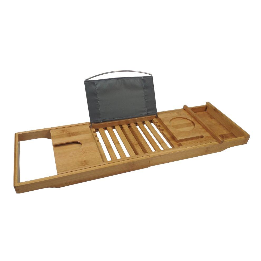 Bamboo Multi-Function Bath Tray | Wooden Bath Caddy on OnBuy