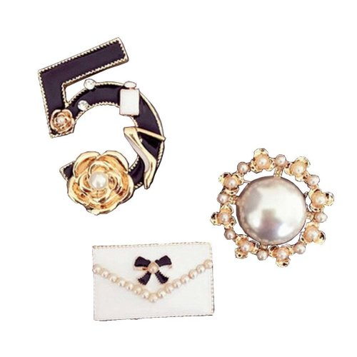 A Set of Stylish Brooches Corsages Collar Decorative Brooch Pins