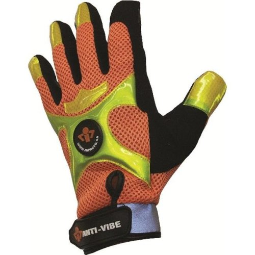 IMPACTO BGHIVIS50 Anti-Vibration High Visibility Mechanics Air Glove - Extra Large