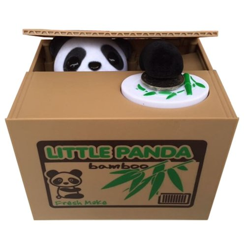 Particularly Creative Toys Cute Panda Steal Money Piggy Bank Novelty Gift
