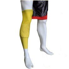 [YELLOW] Long Comb Pad Compression Basketball Leg Sleeve One Pic, Size L