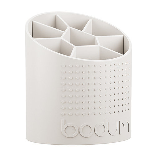 Bodum 1-Piece Plastic Bistro Utensil Holder, White