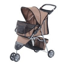 (Brown) Pawhut Dog Pushchair | Pet Stroller