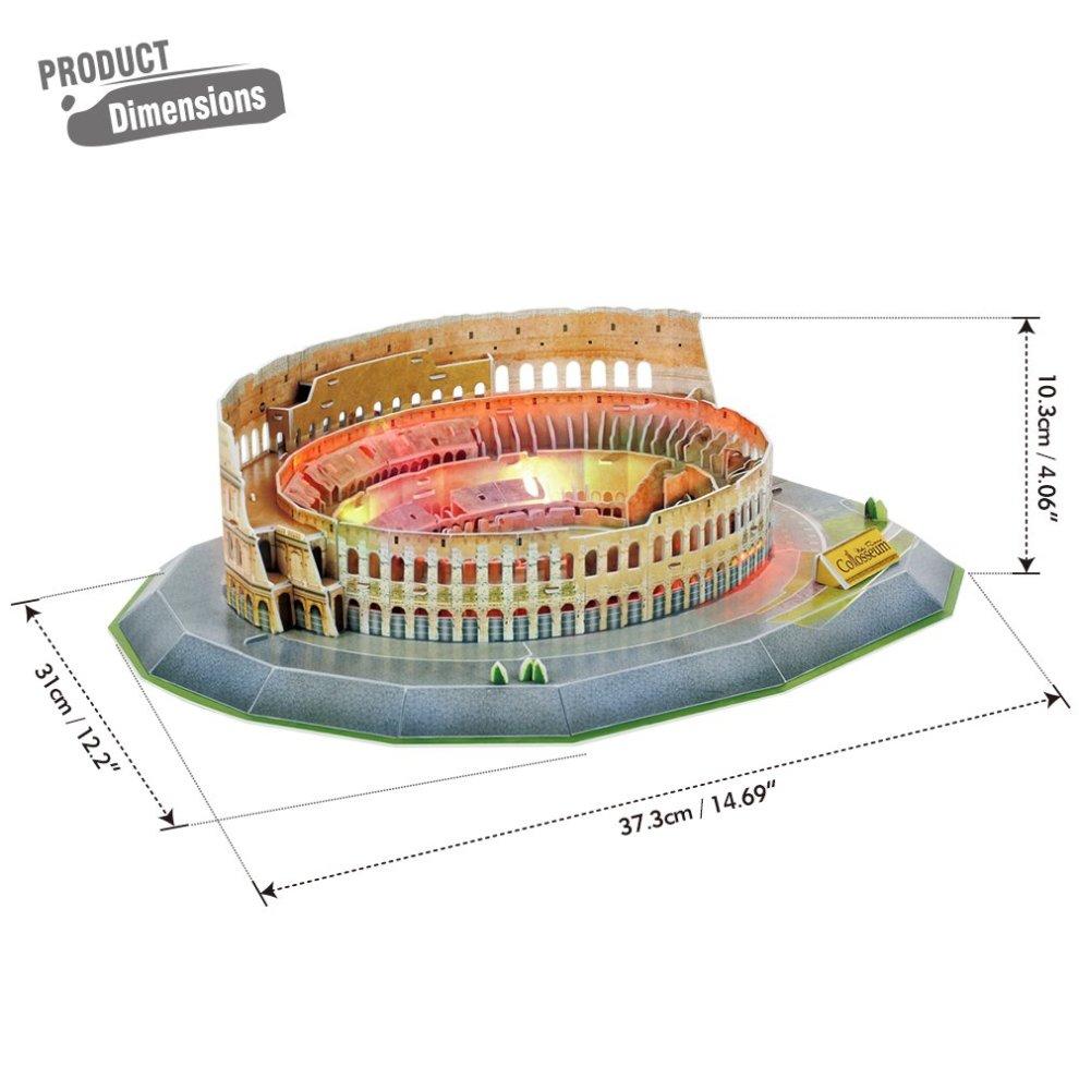 CubicFun Rome The Colosseum Building 3D Jigsaw Puzzle LED
