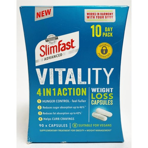 Slimfast Advanced Vitality 4in1 Action Weight Loss 90 Capsules 10 Days