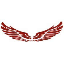 Set of 2 Wings Family Car Stickers Unique Design Car Sticker Red