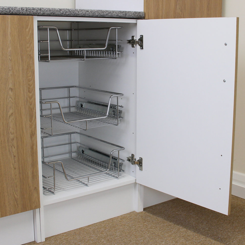 Kukoo Kitchen Pull Out Storage Baskets 600mm