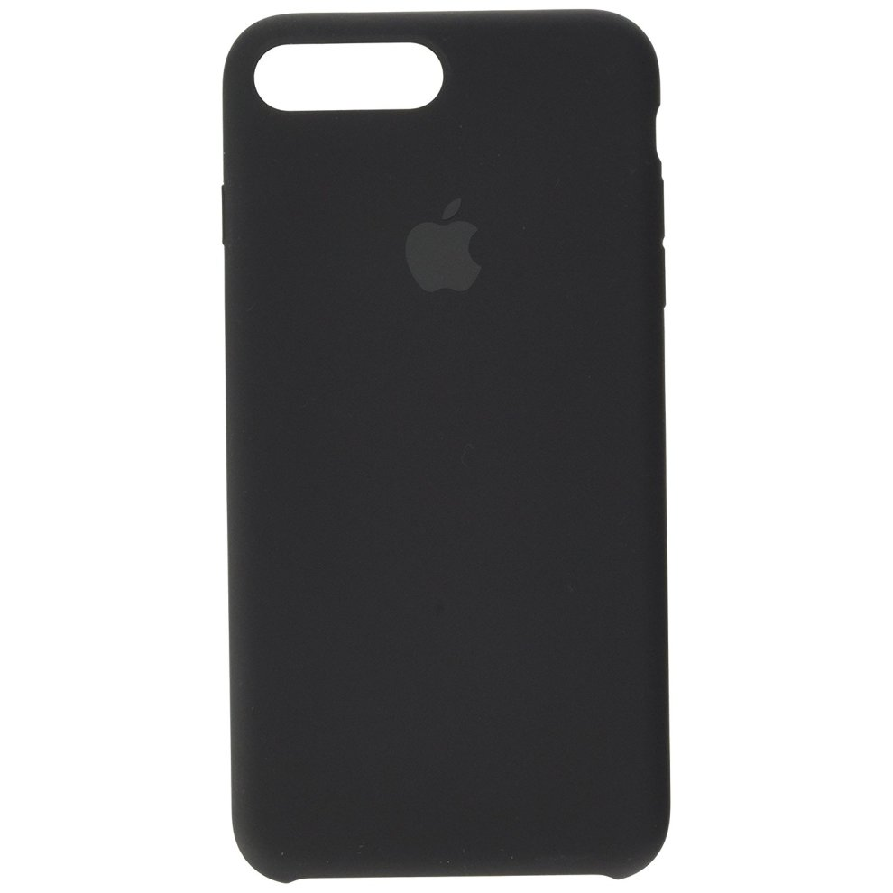 Apple Silicone Back Cover Case for iPhone 7 Plus - Black
