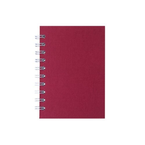 Pink Pig A6 Portrait, Eco Red - Notebook Lined Paper 70 Leaves