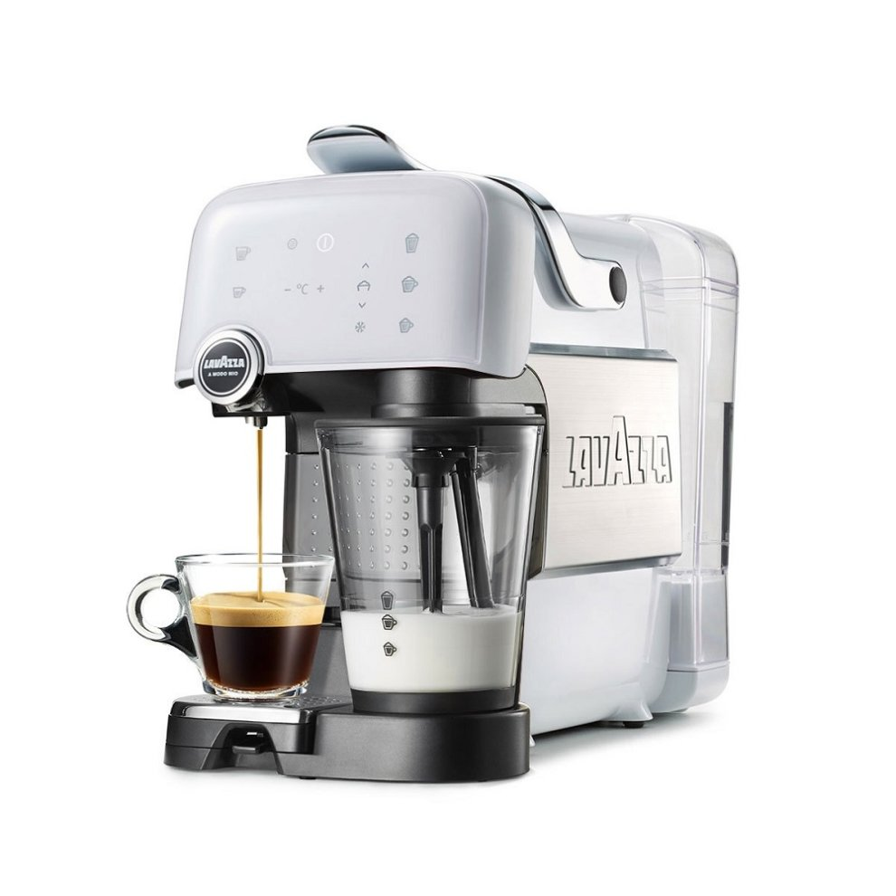 Italian Coffee Maker Pods : Lavazza Fantasia Plus LM7000 Ice White on OnBuy