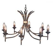 Bronze Patina 8lt Chandelier - 8 x 60W E14 by Happy Homewares