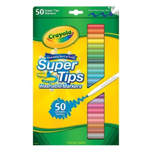 "Crayola Super Tips Washable Markers-50/Pkg - ""Styles May Vary"""