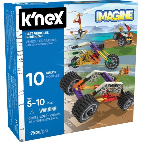 K'NEX Imagine - Beginner Fun Fast Vehicles Building Set - 96 pieces - Ages 5+
