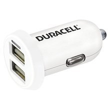 Duracell In-Car USB Charger Auto White mobile device charger