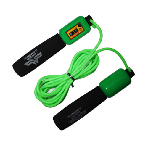Jump Rope for Exercise,Rubber Speed Rope 3M Count Rope Skipping Green