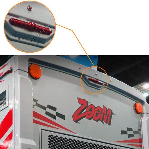 Vardsafe Universal Flat Surface Mount Parking Brake Light Reversing Backup Camera for RV / Cargo Van / Bus