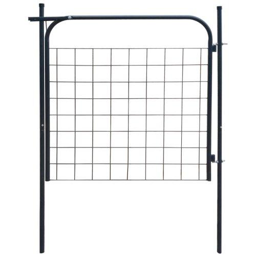 vidaXL Garden Fence Gate Outdoor Patio Border Edge Fencing Barrier Anthracite