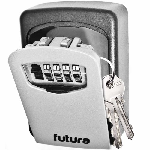 Futura Genuine Key Safe, Wall Mounted Key Lock Box Safe