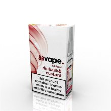 88 Vape E-Liquid Nicotine 16mg Rhubarb & Custard 10ML