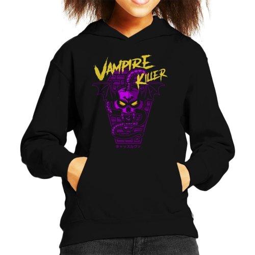 Vampire Killer Retro Castlevania Kid's Hooded Sweatshirt