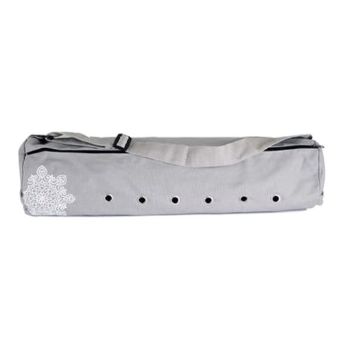 Pouch Yoga Canvas Mat Tote Bag Holder:  Lightweight, Durable, Breathable[Gray]