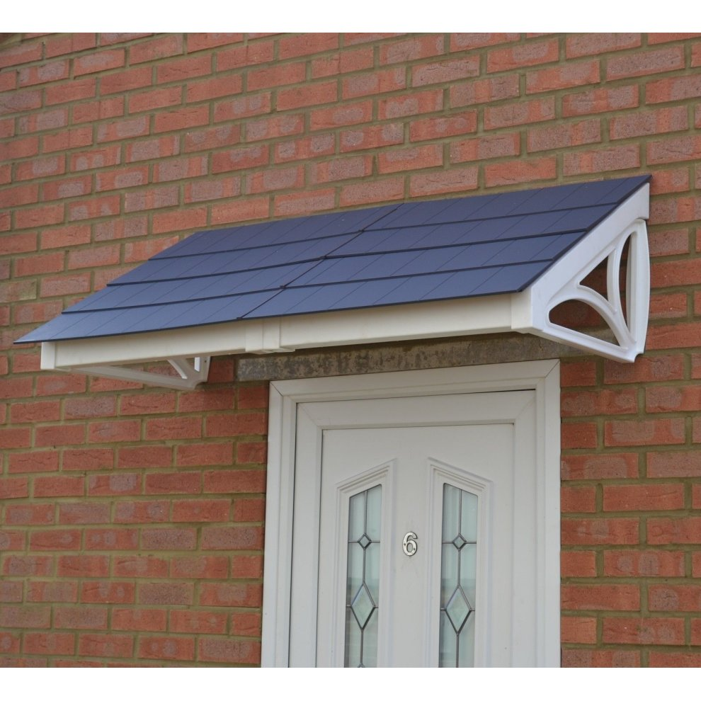 White Cosgrove 1440 Door Canopy With Choice Of Roof Colour