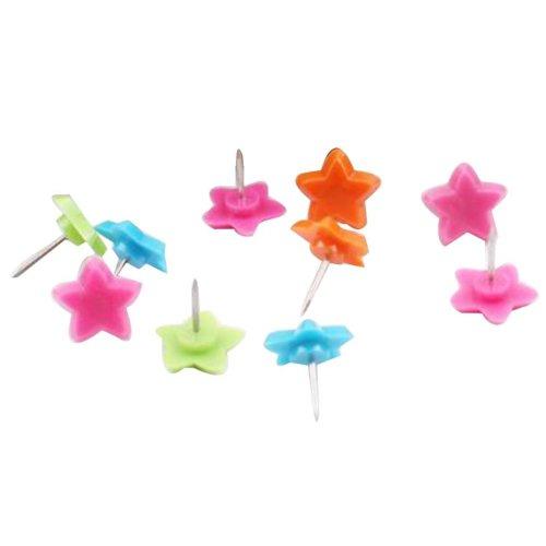 50 Pcs Creative Pushpin Push Pin Thumbtack Office Supplies, Colored stars