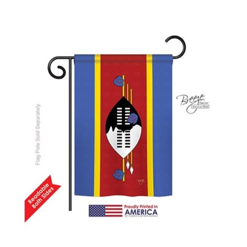 Breeze Decor 58289 Swaziland 2-Sided Impression Garden Flag - 13 x 18.5 in.