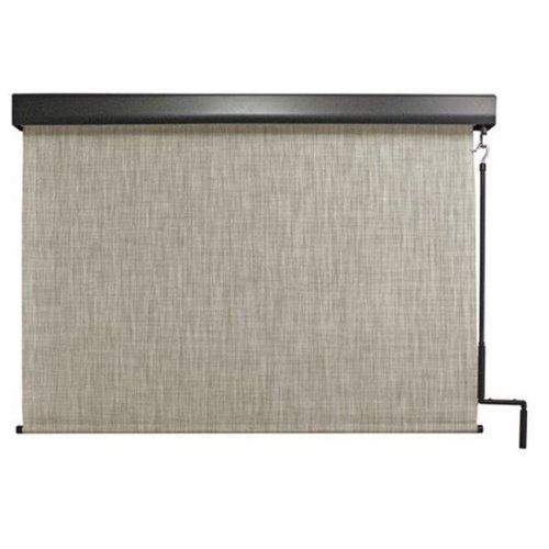 Keystone Fabrics E70.48.50 Exterior Crank Sunshade with Valance, Caribbean - 48 x 96 in.