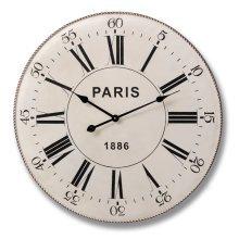 Cream & Black Metal Paris Clock - Look Superb Any Room Home -  black cream metal paris clock look superb any room home