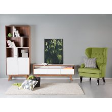 TV Stand - TV Cabinet - Media Unit - Brown and White - SYRACUSE
