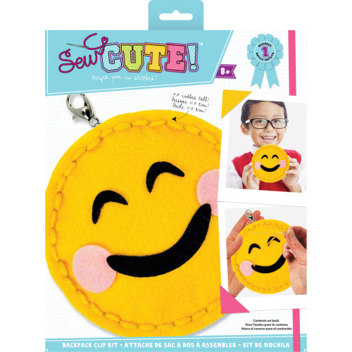 Sew Cute! Mini Felt Kit-Emoji Blushing Smile