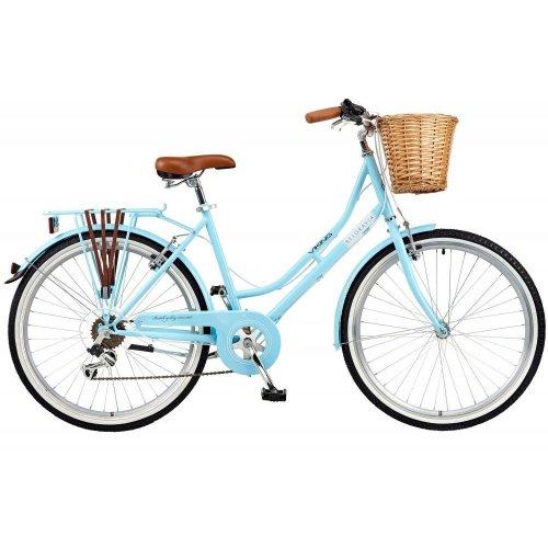 Viking 2018 Belgravia Junior Ladies Traditional Heritage Bike Bicycle Blue 6 Spd
